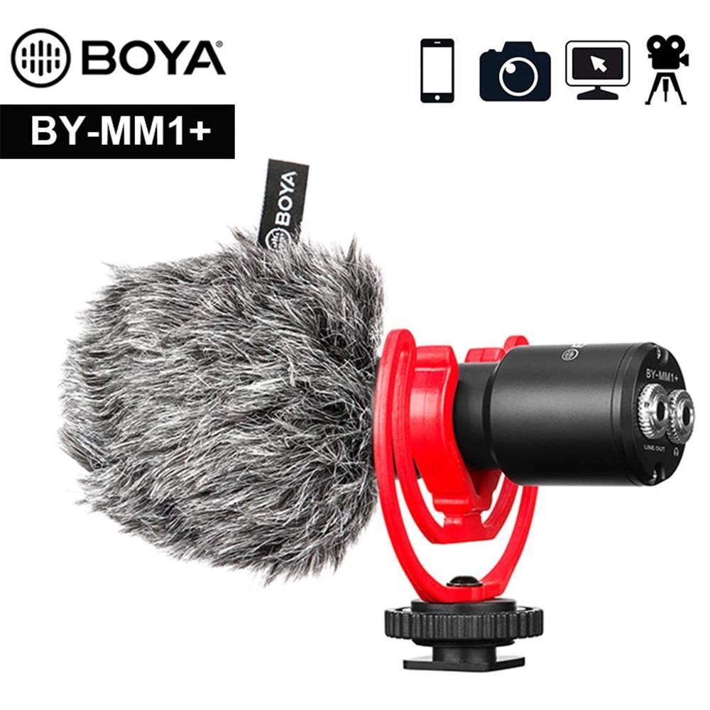 New Boya Microfono By-MM1 Cardioid Fucile da caccia per iPhone Android Smartphone Canon Nikon Sony DSLR DSLR Campotography Camcorder Camcorder PC MIC