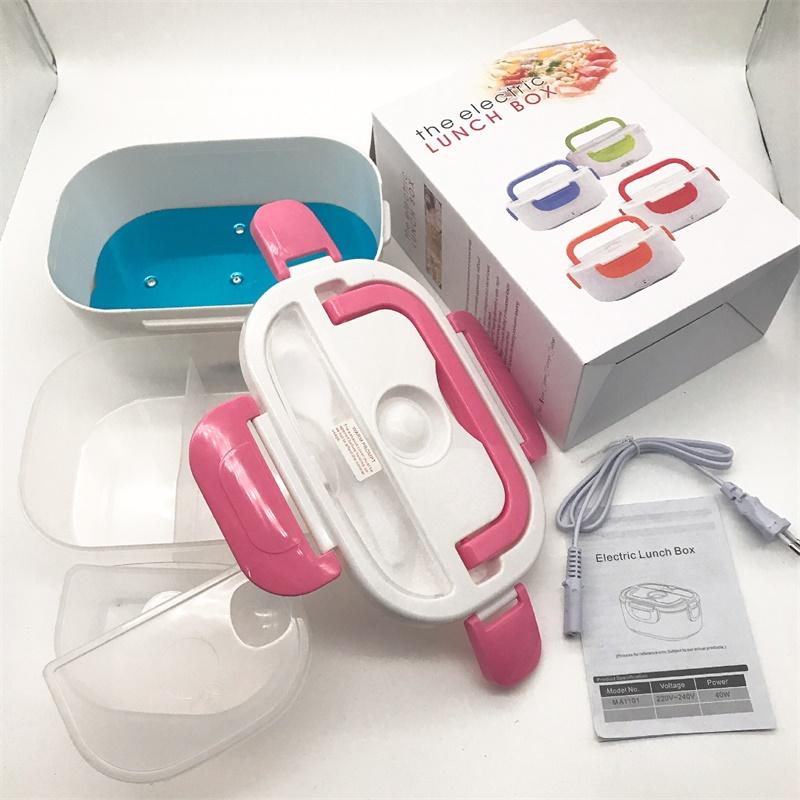 Split-Stil-Dinner-Eimer-Kunststoff-Edelstahl-Boxen tragbarer Schnappverschluss Multi Color-Quadrat-Lunchbox-Entlüftungsloch Neue Ankunft 22HB L2