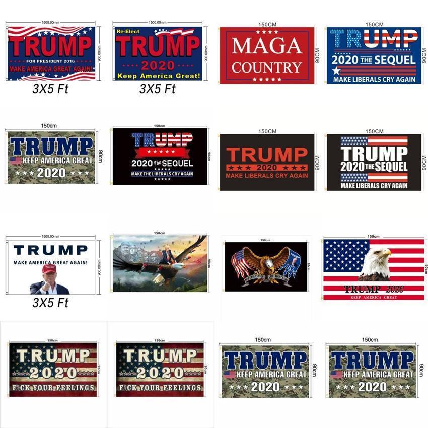 Weihnachten 3x5 Füße Trump Flag 13 Styles Trump 2020 Keep America Große MAGA Flagge Amerikanische Präsidentenwahl Trump Flags