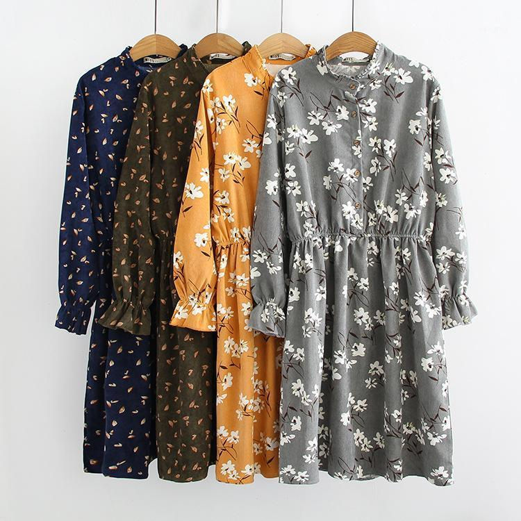 Vestidos casuales vestidos de vestir de traje de otoño vestido de cintura de encaje color1