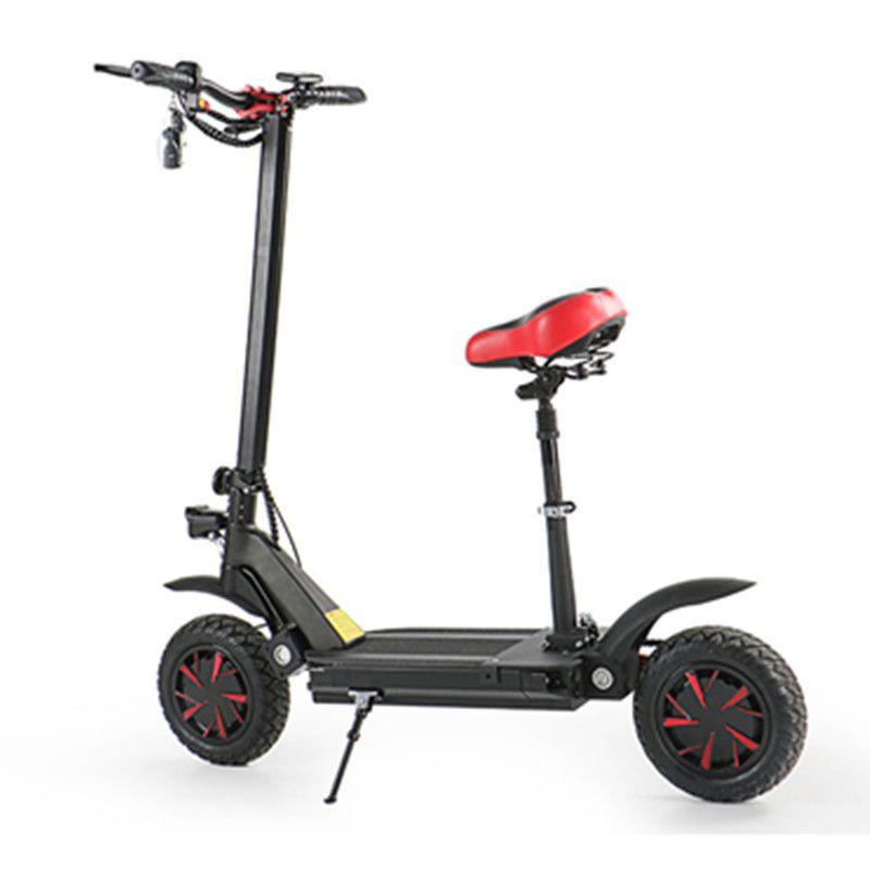 Elektrischer Roller mit Sitz für Erwachsene 2 Räder Elektroroller 1000W / 2000W / 3600W Geschwindigkeit 70km / h EcoRider E4-9 Faltbares elektrisches Fahrrad