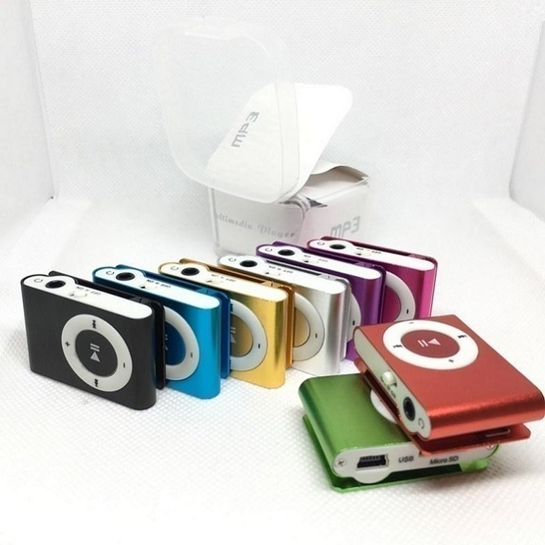 Mini Clip MP3 player without Screen colors support Micro SD TF card with earphones headphones usb cable retail box