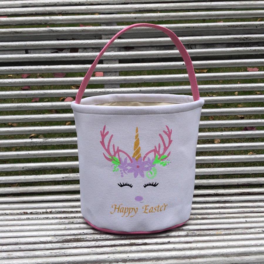 Unicorn Blitter мультфильм корзина для детей яйцо сумка мешок ствол конфеты морские сумки плюшевые ведра пасхальный холст сумка зайчик доставки LLA129 BPRPW