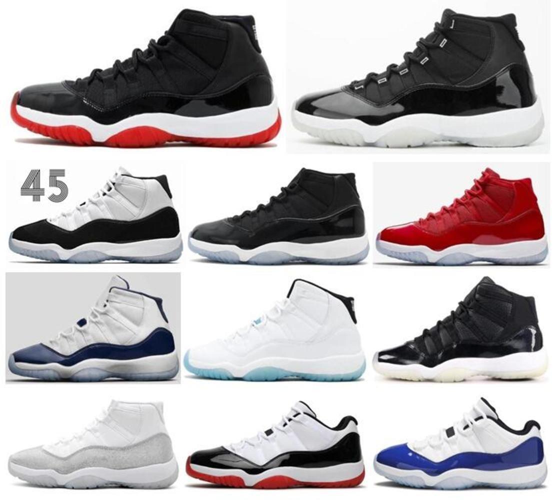 Mens Better qualità 11s Bred 25th Anniversary Space Jam Concord Basket Scarpe da basket 11 Legend Blue Gym Rosso Midnight Navy 72-10 Sneakers sportive