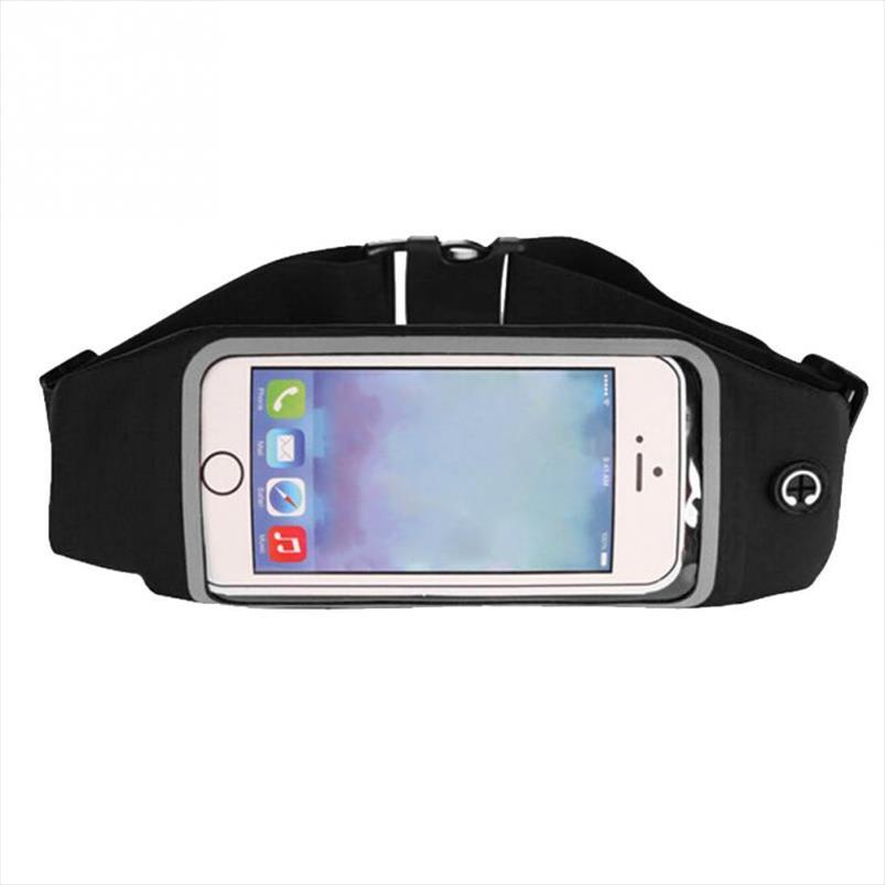 Водонепроницаемый для мобильного телефонного экрана трогательный чехол для держателя телефона талии мешок пояса iPhone Sport Samsung ремень упражнение аксессуар руа