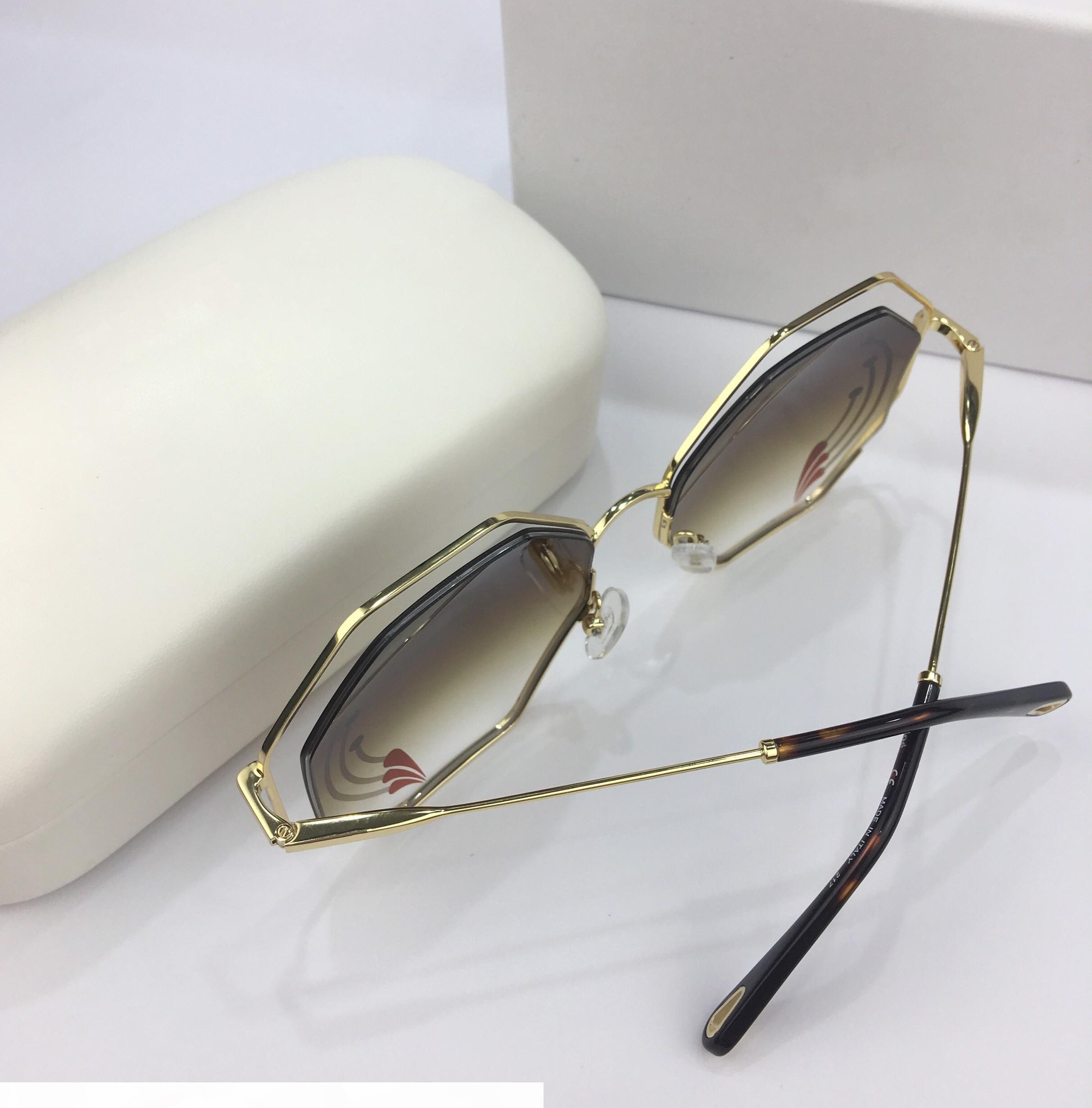 Nouvelle Qualité de Top Qualité 132 Lunettes de soleil pour femmes Hommes Soleil lunettes Femmes Lunettes de soleil Style de mode protège les yeux Gafas de Sol Lunettes de Soleil avec boîte