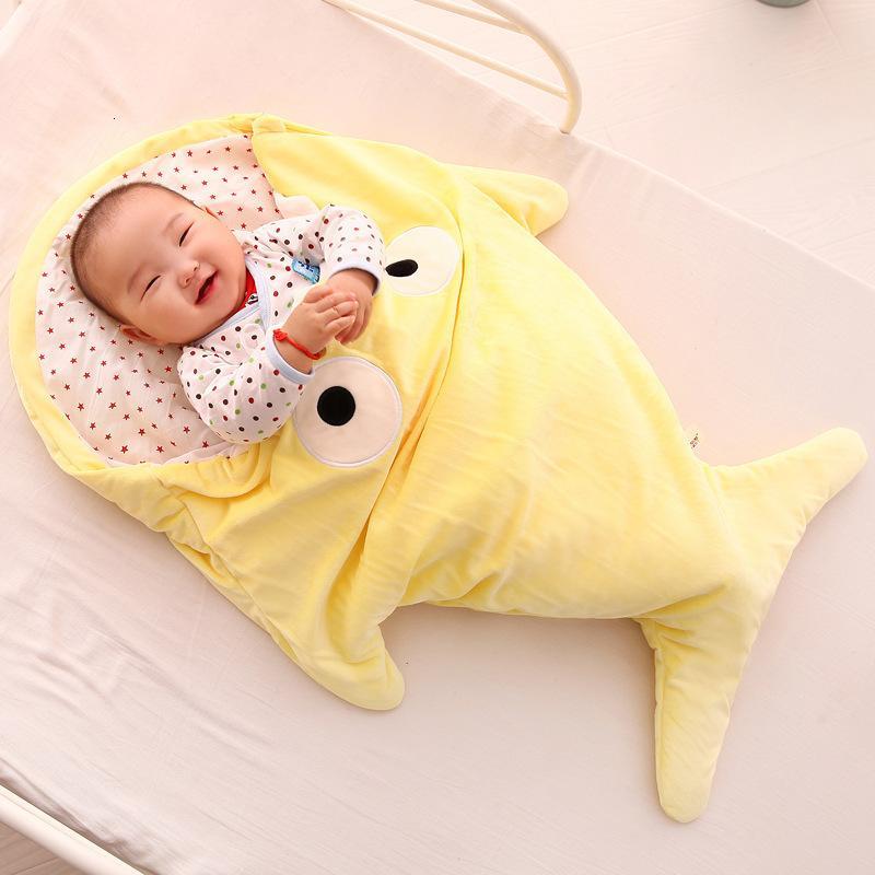 Yenidoğan Wrap Çanta Kick-Proof Karikatür Çocuk Yumuşak Uyku Battaniyeler Erkek Kız Kundak Bebek Bornoz 0-16m Y201001