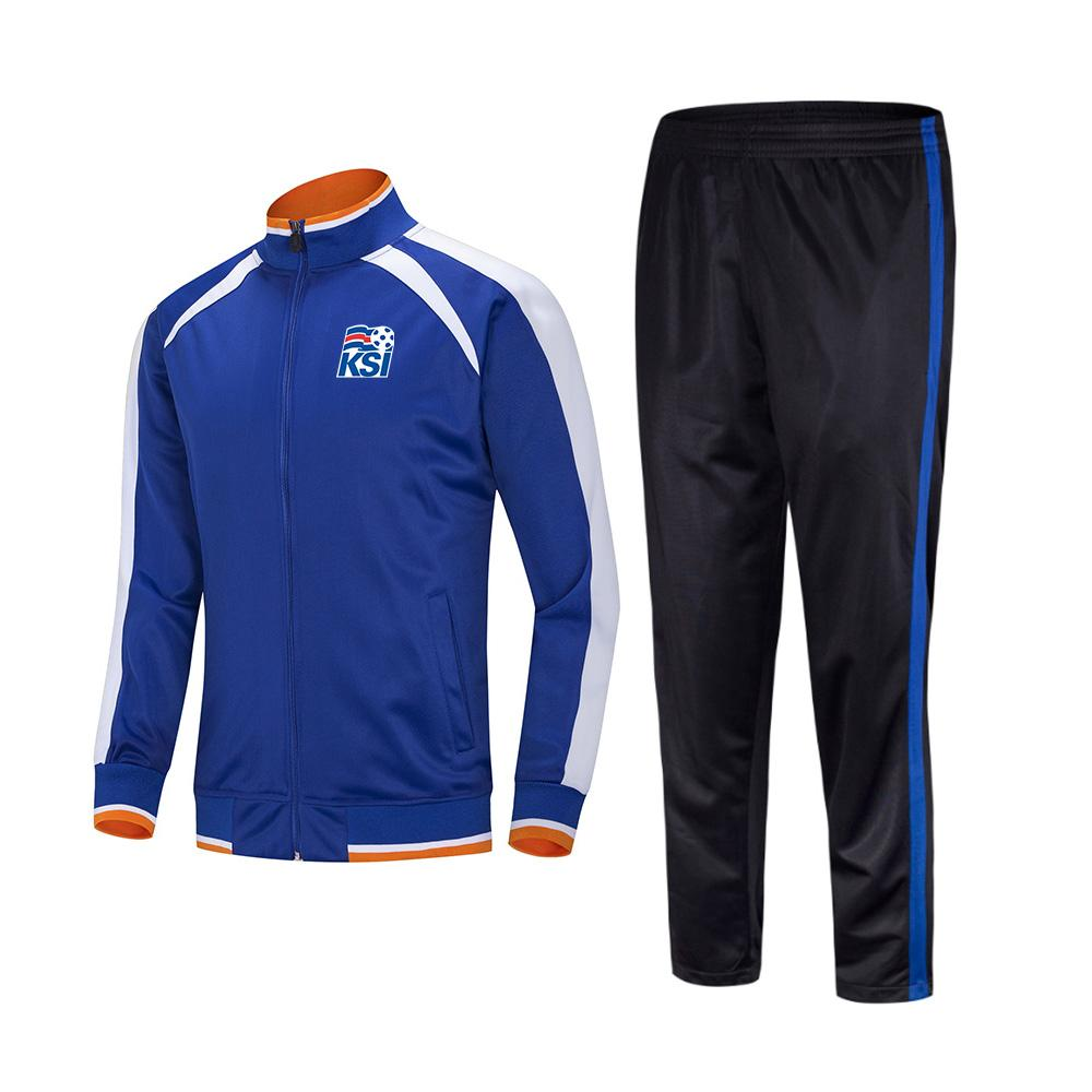 20-21 Iceland Football Club Soccer sports Kids football tracksuits Running suit outdoor training sets Men's Sportwear