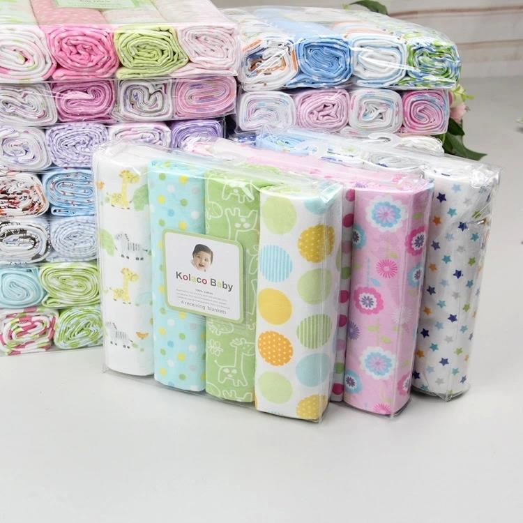 Nouveautés Blanket bébé Cobertor Literie bébé 100% doux et confortable 4 feuilles nouveau-nés Nombre Flanelle Couvertures Réception 201022