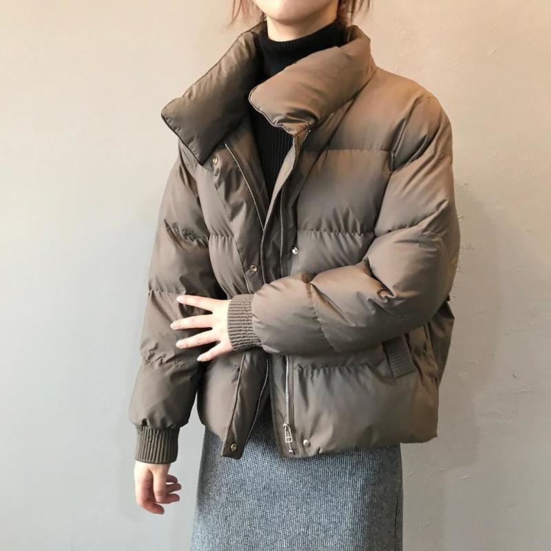 2020 Hiver Nouveau épaissie Pain Vêtements Style Coréen en vrac Collier Stand Slim matelassés Filles chaud vers le bas Veste en coton rembourré