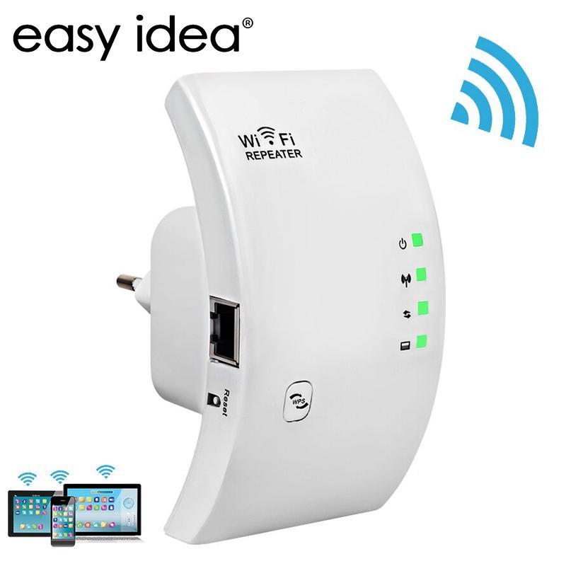 Wireless WiFi Repeater WiFi Extender Router Wi-Fi Amplificatore WiFi Booster Long Range Gamma Wi Fi Repeater 300 Mbps Punto di accesso da 300 Mbps