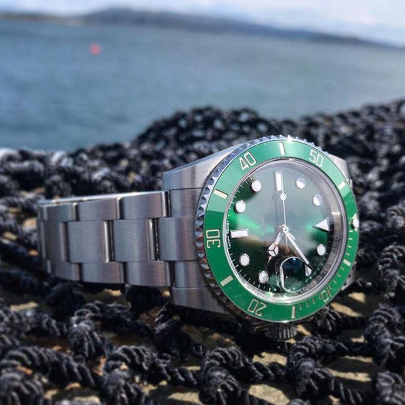 reloj de alta calidad 116610 hombre de acero inoxidable relojes Montre de luxe orologio di Lusso 2813 el movimiento de maquinaria automática relojes Z1