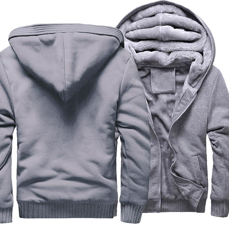 Sudaderas con capucha gruesas de invierno para hombres Sudadera con cremallera de alta calidad Hip Hop Streetwear Streetwear Chaquetas de chándal de chaquetas X1022