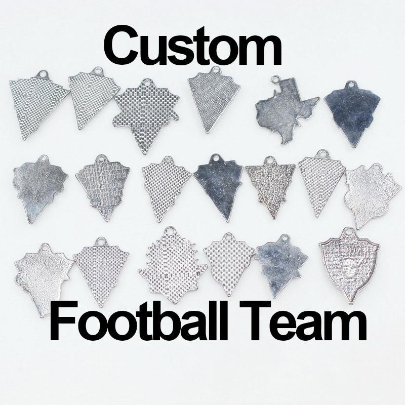 Équipe de football américain 20pcs / lot Enamel Personnaliser Sport Charms Pangle Hanging Charms Bracelet Bracelet DIY Collier Bijoux Bijoux Accessoire Charms