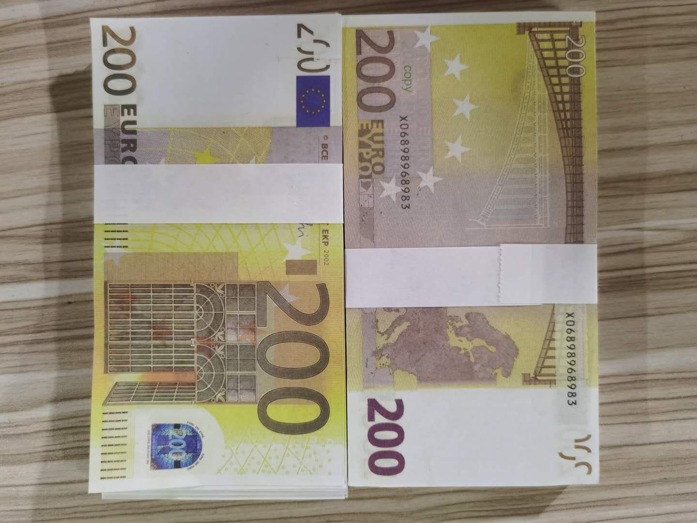 200 Euro Dollar Bill Bank Puntelli simulazione Dollaro Puntelli Monet Monet Movie Puntelli Bar Atmosfera Atmosfera Coins Fake Paper Valuta Giocattoli di valuta