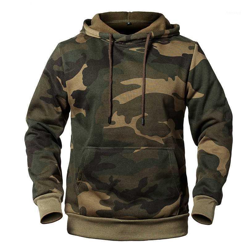 2020 Sudaderas con capucha de camuflaje Hombres Moda Sweatshirt Outdoor Masculino Camo Hoody Chaqueta Otoño Invierno Hoodie Mens Ropa 1