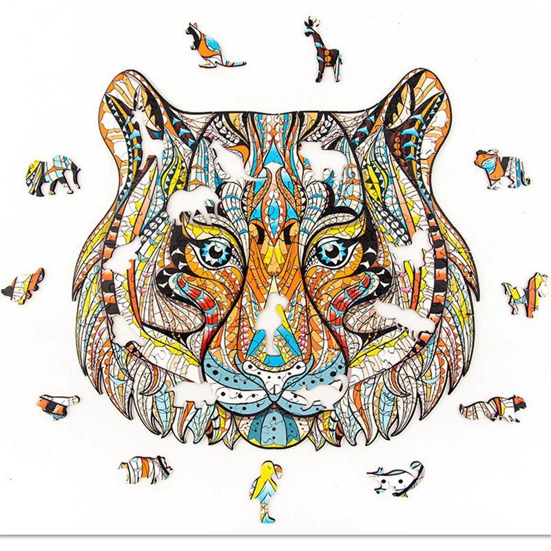 7 نمط ثلاثي الأبعاد ستيريو خشبي بانوراما الألغاز تجميع الشذوذ الحيوانات الألغاز ألعاب الكبار الأطفال LLA330