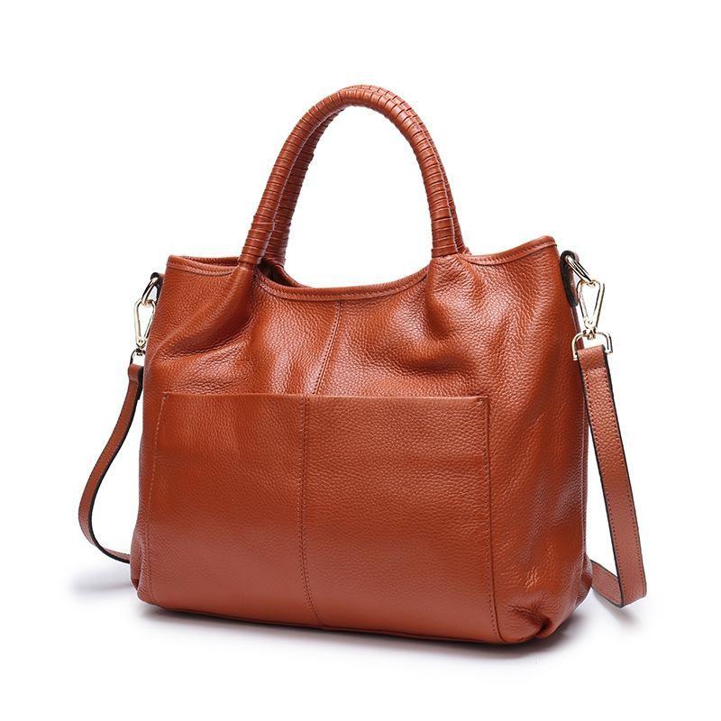 2021 Cowhide Fashion Bag Bags Big Messenger Handbag Large Business Shoulder Designer Tote Women Djdtl