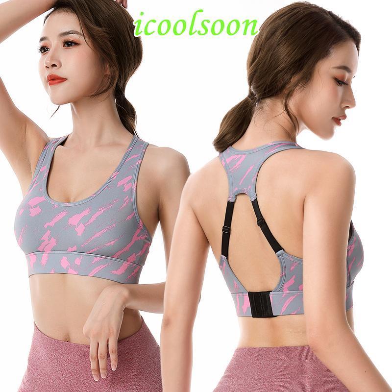 Yoga réglable Anneau en acier Run Fitness Sports Grand Taille Plus Sous froncé Chemises athlétiques Lingerie Sexy High Impact Bra