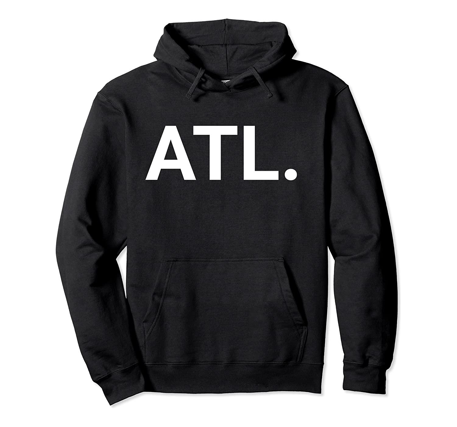 Shirt ATL con cappuccio unisex S-5XL Nero / Grigio / Navy / Royal Blue / scuro Heather Atlanta in Georgia