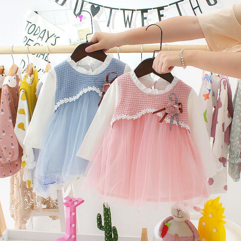 Spring Fall New Born Baby платье для малышей Baby Girls Princess день рождения вечеринка TUTU платья младенческая детская одежда платье Vestidos T200908