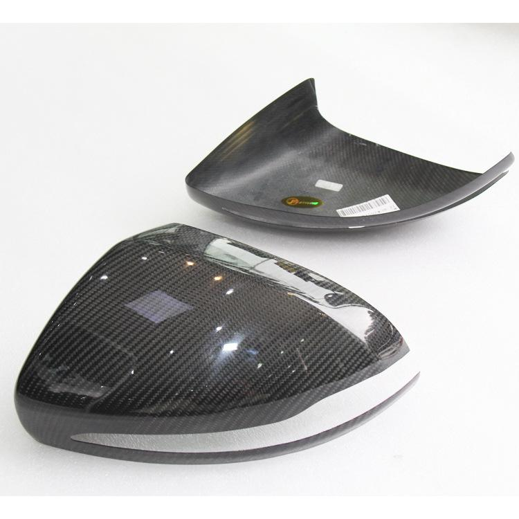 Carbon Fiber Rearview Mirror Cover Pair for BENZ C E S GLC GLS Class W205 W213 W222 Direct add on style