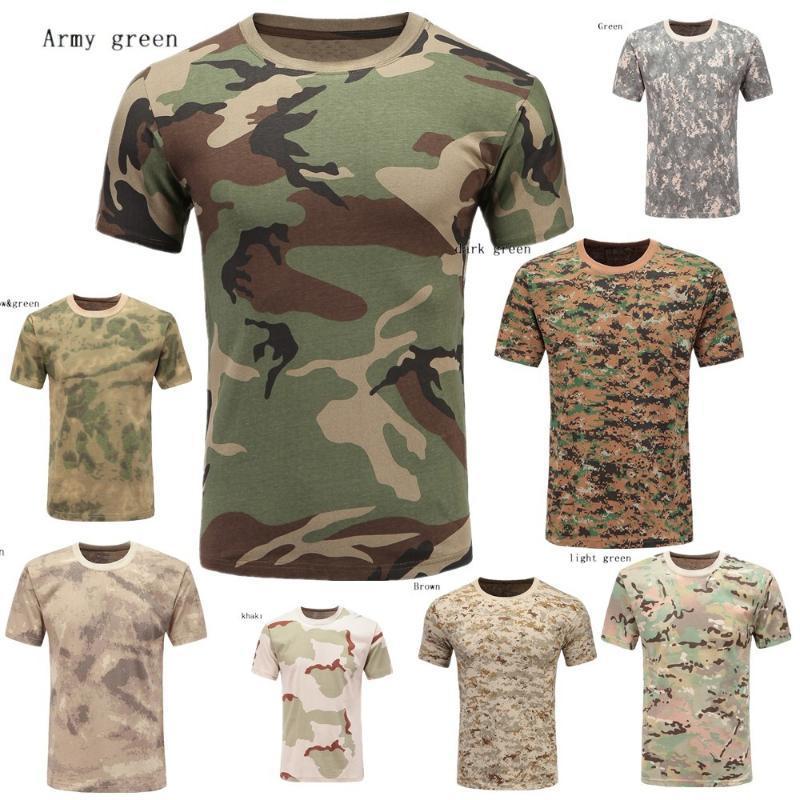 T-shirts pour hommes Zogaa 9Color Polyestr Men manches courtes Camouflage T-shirt décontracté en plein air imprimé Homme Homme Tops Tees