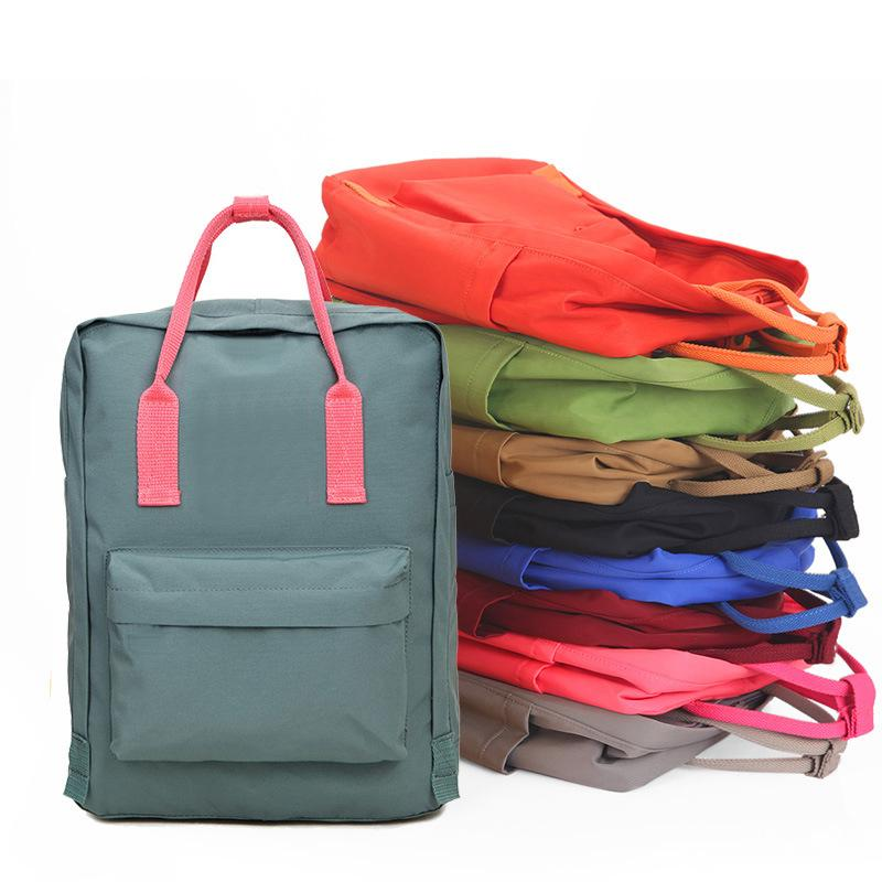 Dropship Marca 19colors Colorful Sport Outdoor Packs casuale zaino dei ragazzi delle ragazze di coppia Schoolbag Zaini per Teenage 3sizes 7L 16L 20L