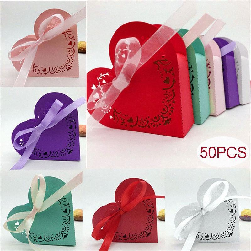 50Pcs Herzform Geschenkbox Babyparty-Geburtstags-Party-Süßigkeit-Kasten-Laser-Ausschnitt-Geschenk-Beutel für Kinder Party Hochzeit Favor Box 8Z i1XU #