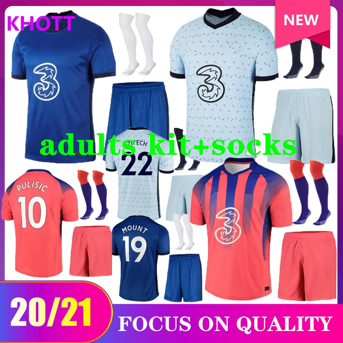 20 21 21 CFC Soccer Jerseys Chilwell Werner Ziyech T.SILVA Kovacic Kante Willian Mount Football Camicia da calcio 2020 2021 Abraham Home Away Jersey Kit