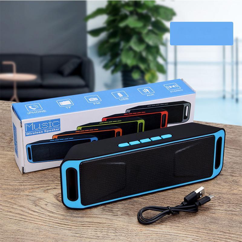 سعر جيد SC208 بلوتوث المتكلم مستطيل مشغل موسيقى MP3 مع وضع FM دعم TF بطاقة في الهواء الطلق المحمولة اللاسلكية المتكلم بالجملة