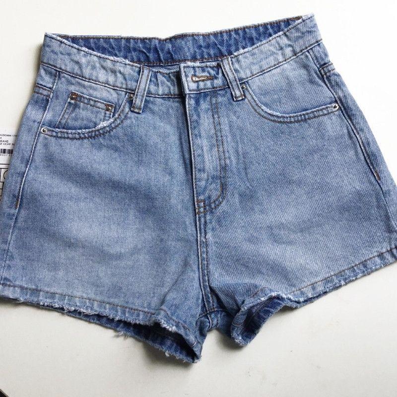 Shorts de denim en coton pour femmes taille haute taille large rétro des nouvelles shorts féminins 201029