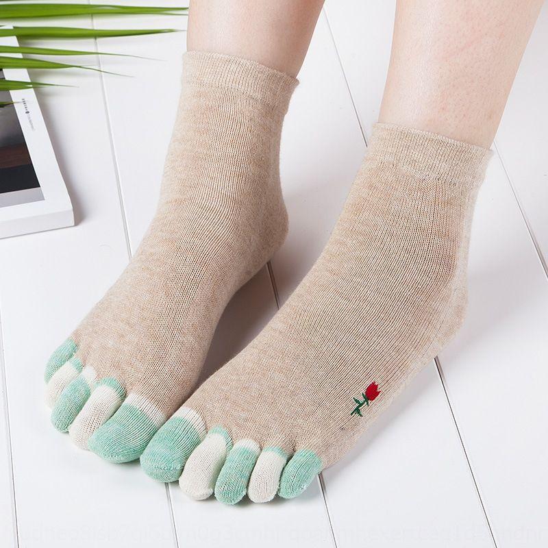 Çocuk Çocuk çocuklar ilkbahar ve sonbahar pamuk ince renkli parmak işlemeli kısa tüp eğlence bölünmüş için beş parmak kadın Bölünmüş ayak