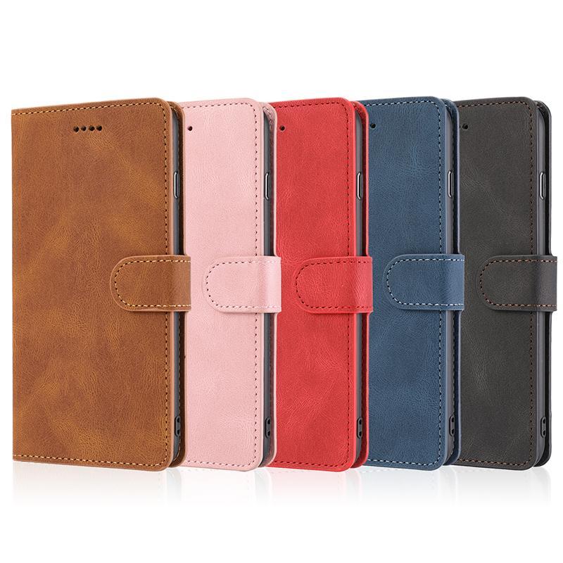 Funda para teléfono móvil de cuero para iPhone 12PRO 11PRO MAX X XS Max XR cubierta del teléfono para Samsung