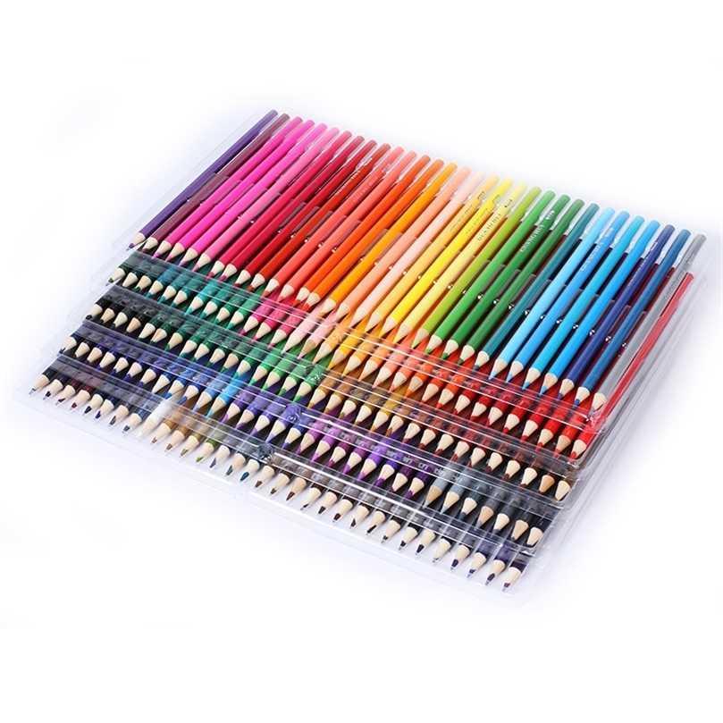 120/160/72/48 cores madeira lápis conjunto 160 PU lápis caso artista pintura desenho arte suprimentos esboçar presentes da escola 201223