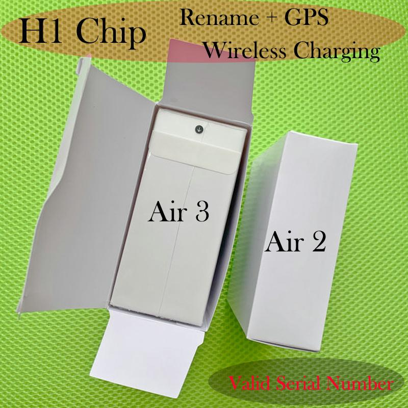 Newest H1 chip Renamed headset 2nd Generation Wireless Charging Bluetooth Earphones GPS Positioning headphone with Valid Serial Number