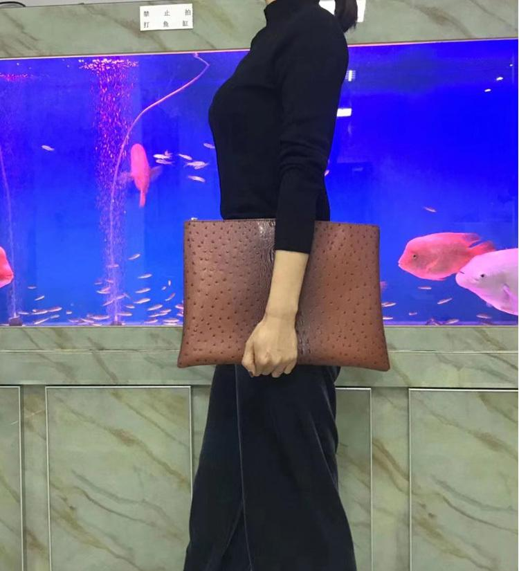 2021 Fashion Trend Laptop Pouch Business Briefcase Women Green Leather Document File Bag Q0112