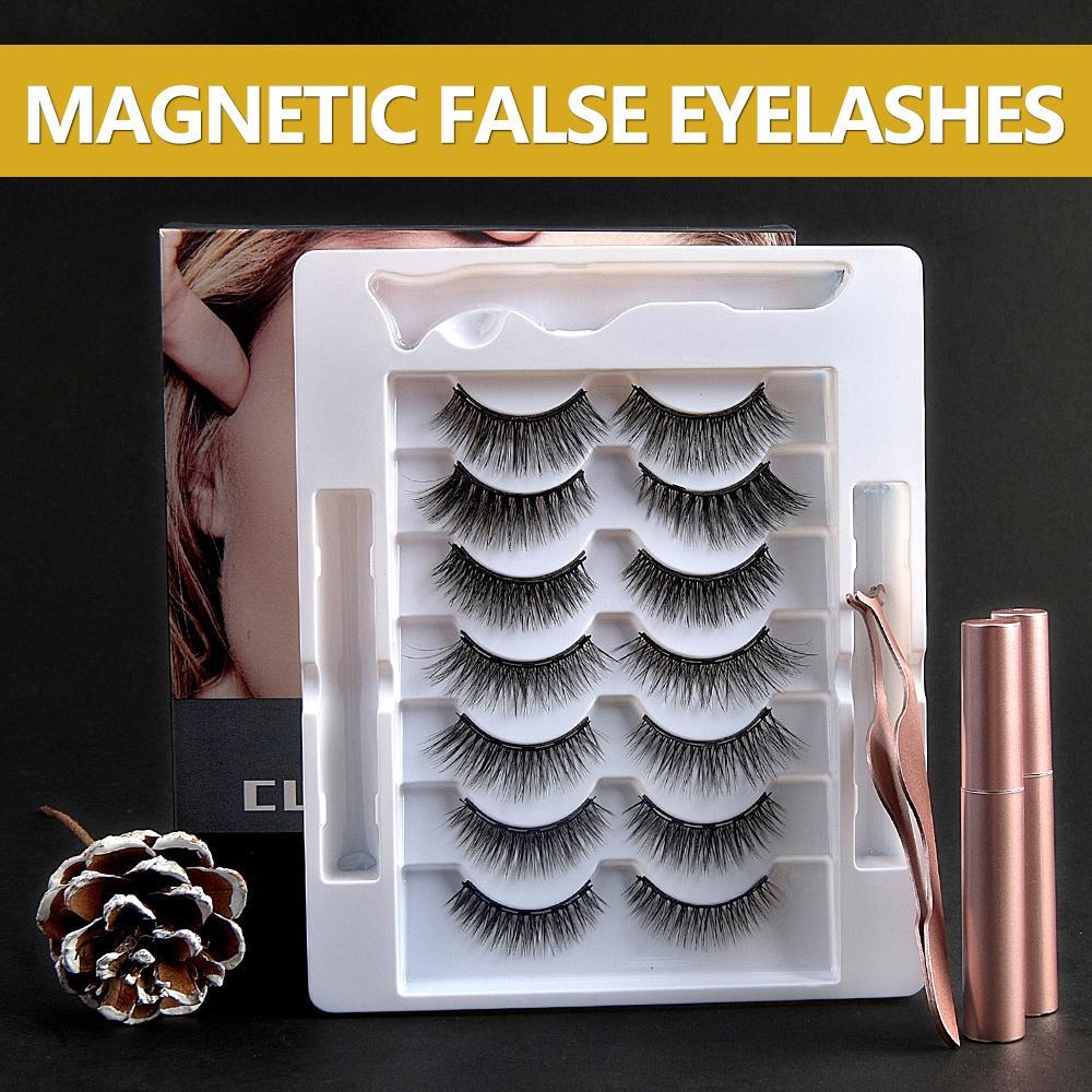 [Wimperneinsatz für Make-up-012] Die 7 Paar magnetischen falschen Wimpern für Make-up sind sehr weich und bequem