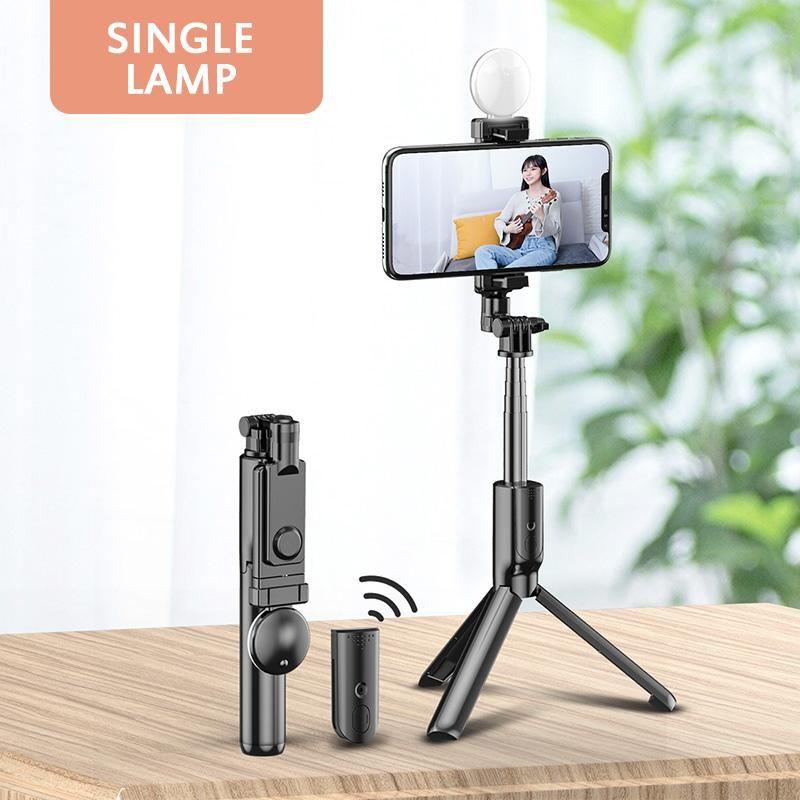 Wireless Bluetooth Selfie Stick Fill Light Ring Tripod Stand Extendable Remote Shutter Phone Mount Monopod Tripod For