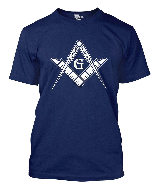 спорт 2019 New Summer Casual Tee Shirt масоном Логотип - Square Compass Symbol Мужская футболка