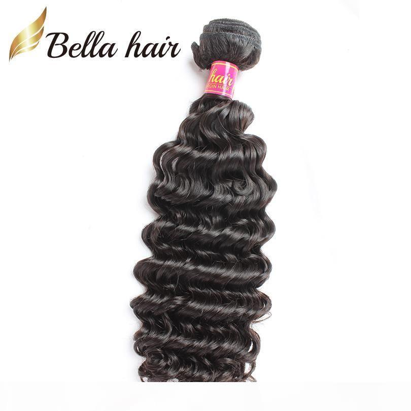 Оптом 8a индийские наращивания волос 10-24 дюйма человеческие волосы плетение 10шт натуральный натуральный цвет глубоковолновая волна утром бесплатная доставка