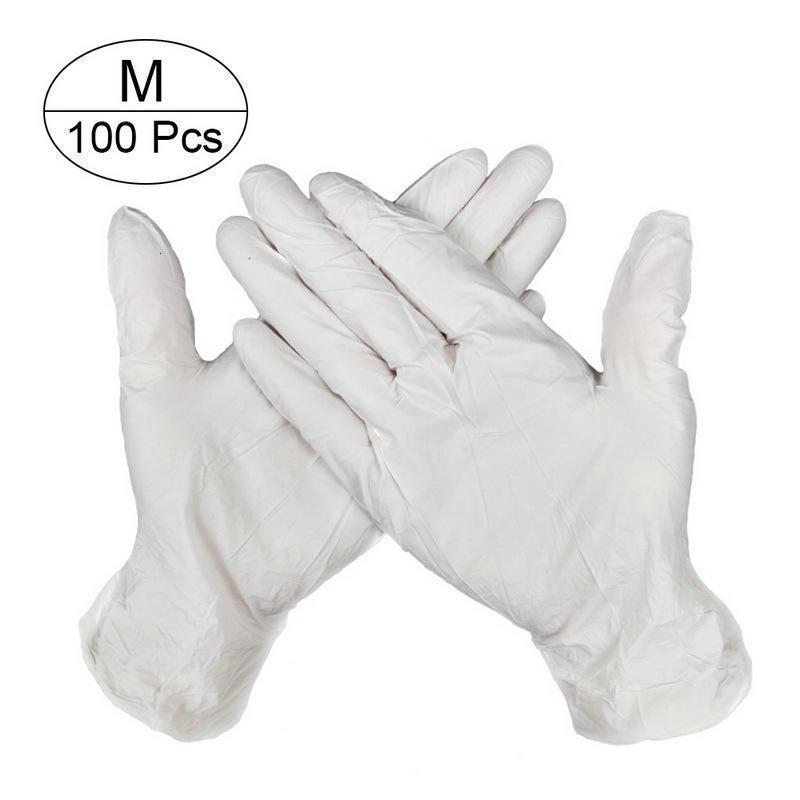 100pcs vaisselle / cuisine / gants Gants jetables en latex / travail / en caoutchouc / de jardin Bonne Univerg 4 Ifve