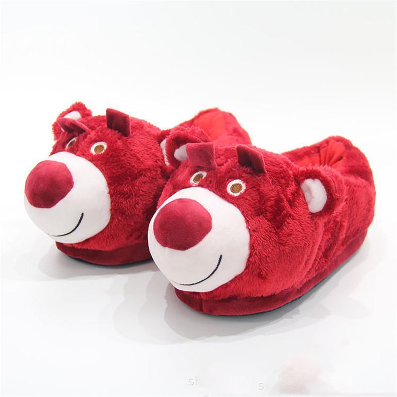 36-42 Boyut Kış Kadın Sıcak Terlik Peluş Karikatür Hayvan Sandalet Kapalı Ayakkabı 40 benzeri Ürünler Güzel FIP-Flop Sevimli Ayakkabı 201125