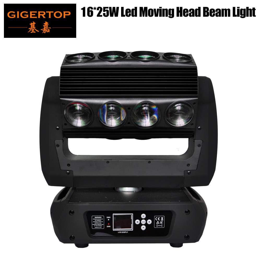 TipTOP新しいデザインのミラージュLEDの移動ヘッドライト16 * 25W RGBW 4in1 3度のビーム角DMX 18/30 / 82ch LEDスパイダーライト