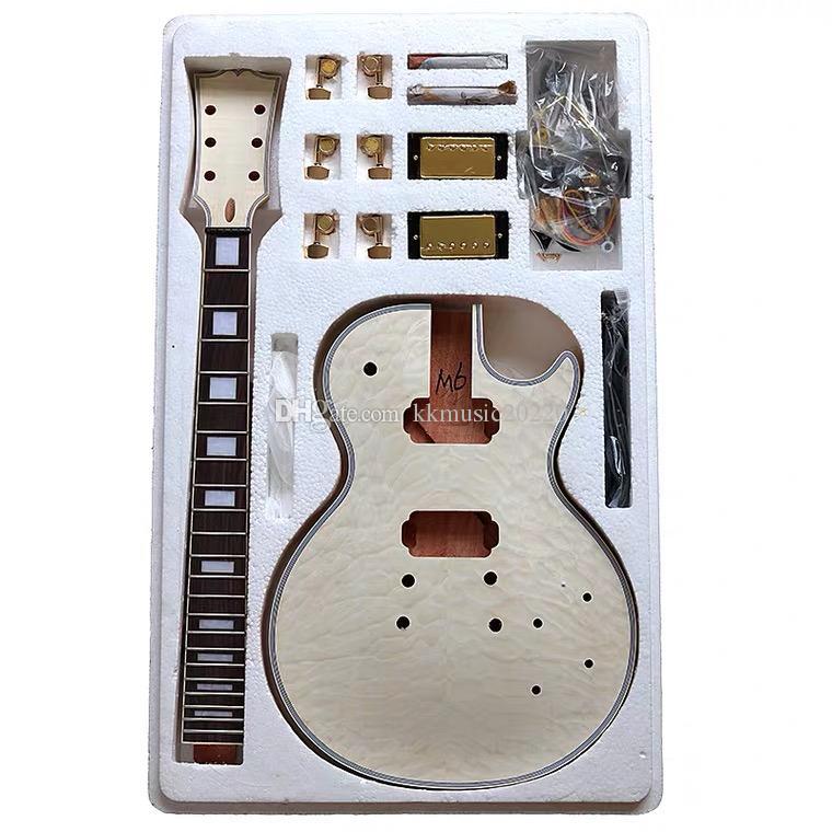 1 set non finito della chitarra del collo e del corpo per LP kit chitarra stile Collo: mogano, Tastiera: Palissandro,