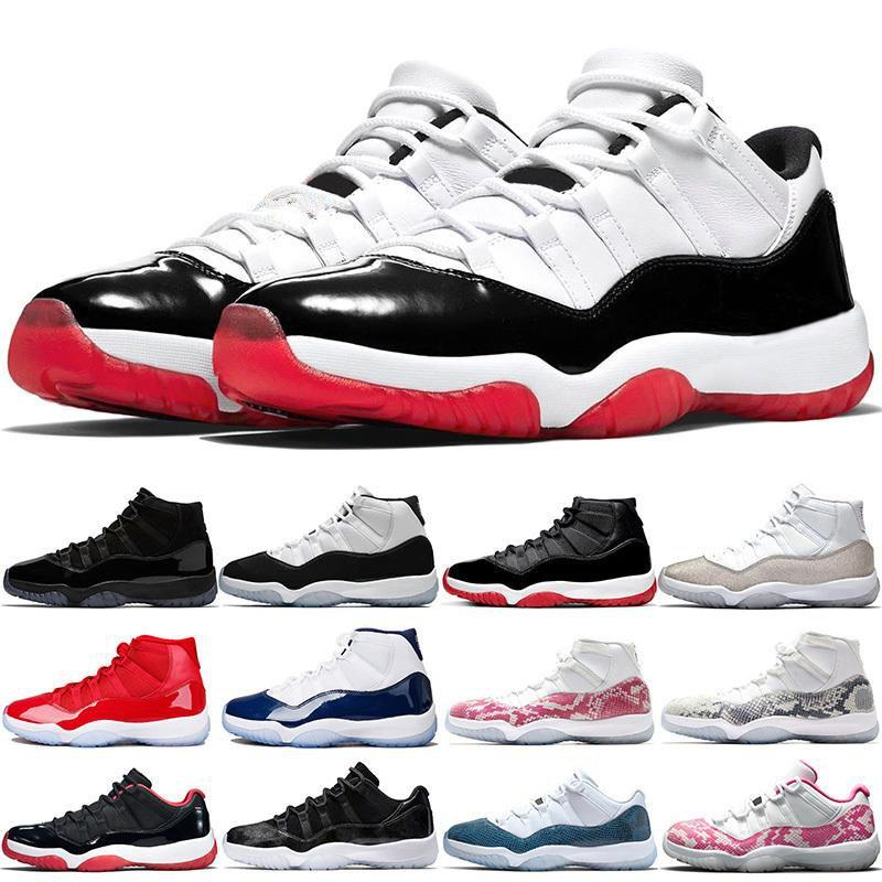 Top Hommes Femmes 11s Basketball Chaussures 11 Anciens Baskets Bred White Concord 45 Cap et gym Gym Rouge Gamma Blue Trainer Sneakers Sport