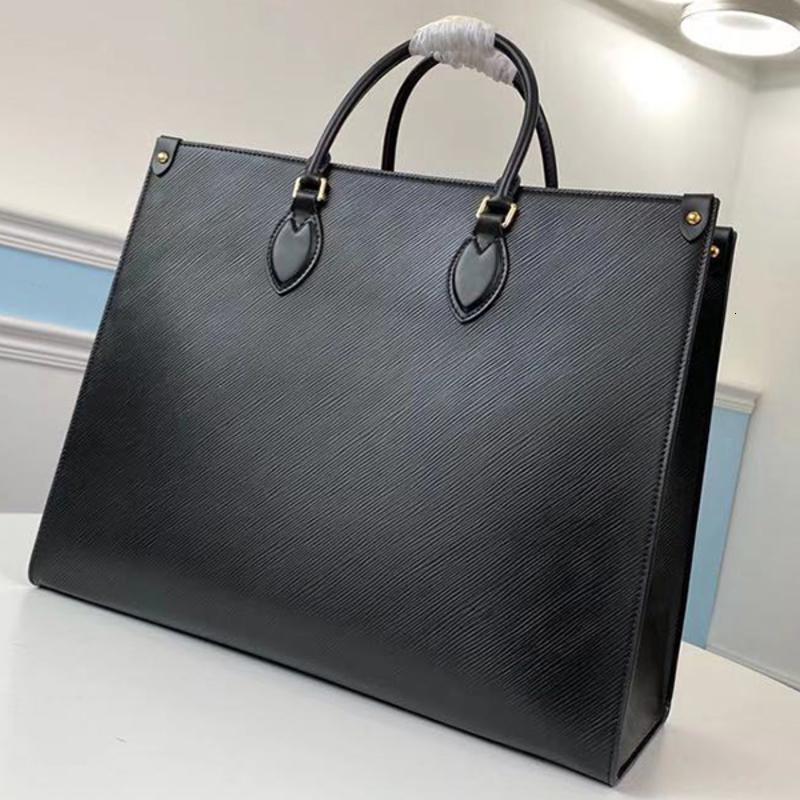 Top-Qualität-Stil komplett Onthego Luxuri Measignars Einkaufstasche Hohe Kapazität Umhängetasche Leder Umhängetasche Größe: 41 cm