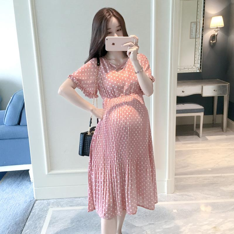 2021 Hot Sale Spring Summer Pregnancy Dress Fashion Women Clothing Maternity Wear Dresses Chiffon Plus Size Pregnant Clothes From Floatinghw 34 48 Dhgate Com