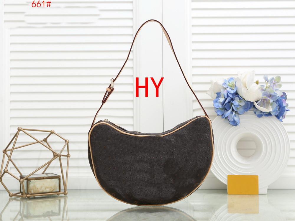 Top Quality Fashion Shoulder Bag Classic Flower Brown Grid Crossbody Bag Clutch Handbag New Messenger Bag HY661# ZONG HUAA
