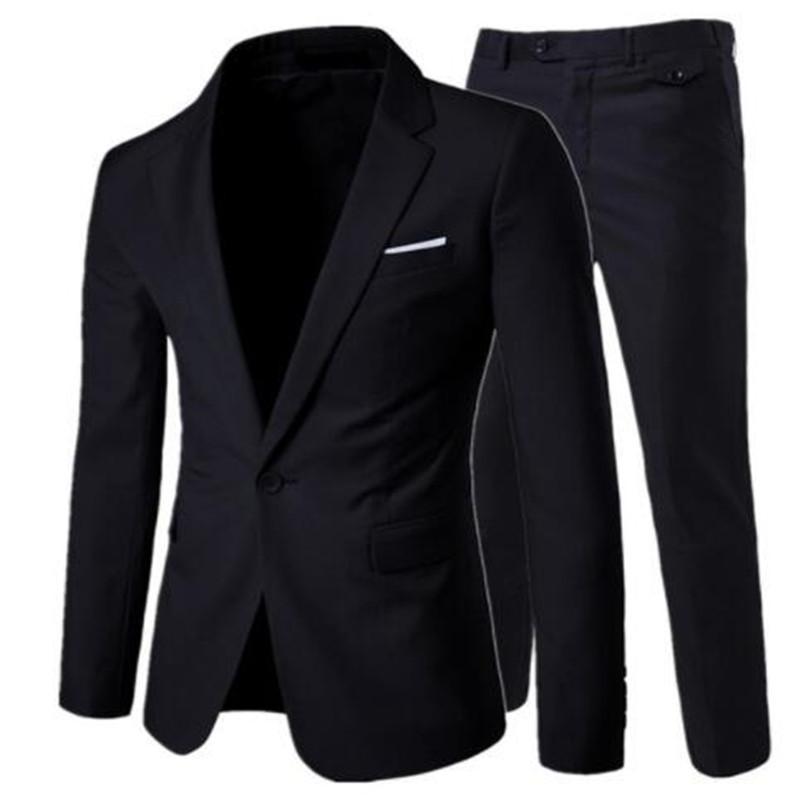 mode costume Slim costumes vêtements décontractés d'affaires groomsman trois pièces hommes Blazers pantalon veste pantalon veste ensembles de 2020 hommes